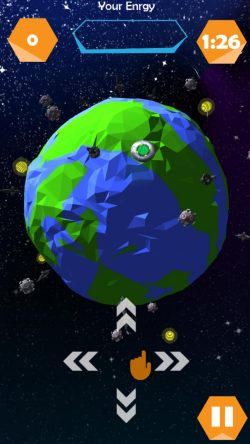 screen shot of 'Alien Surfer' the hyper casual game for iOS