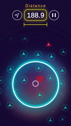 screen shot of 'Jumper' an iOS mobile game